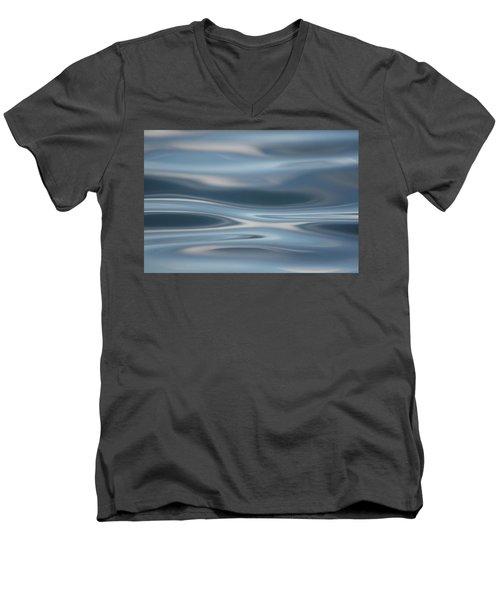 Sky Waves Men's V-Neck T-Shirt by Cathie Douglas