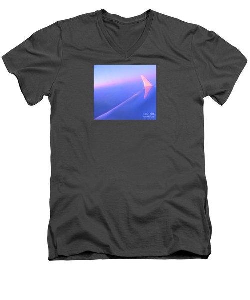 Skybluepink Men's V-Neck T-Shirt