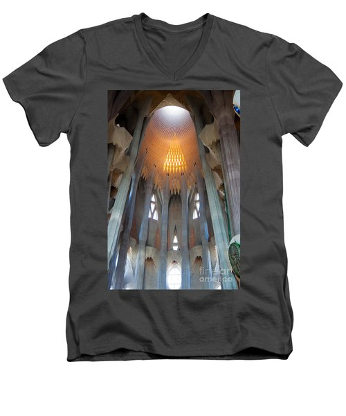 Skylight At Gaudi Cathedral Men's V-Neck T-Shirt