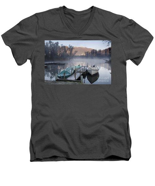 Small Port Men's V-Neck T-Shirt
