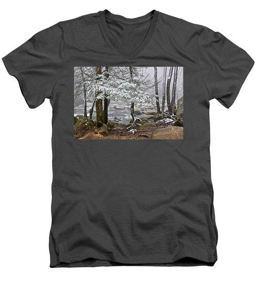Smoky Mountain Stream Men's V-Neck T-Shirt