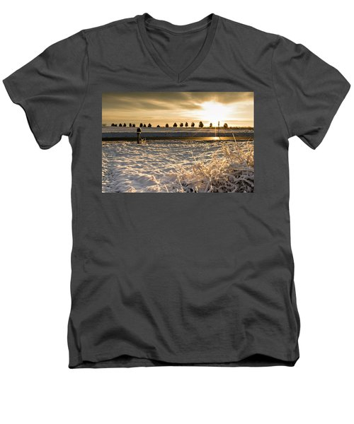 Snowy Sunrise Men's V-Neck T-Shirt