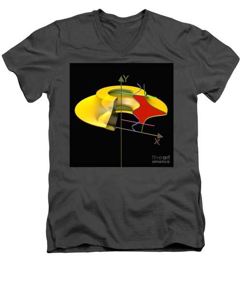 Men's V-Neck T-Shirt featuring the digital art Solid Of Revolution 6 by Russell Kightley