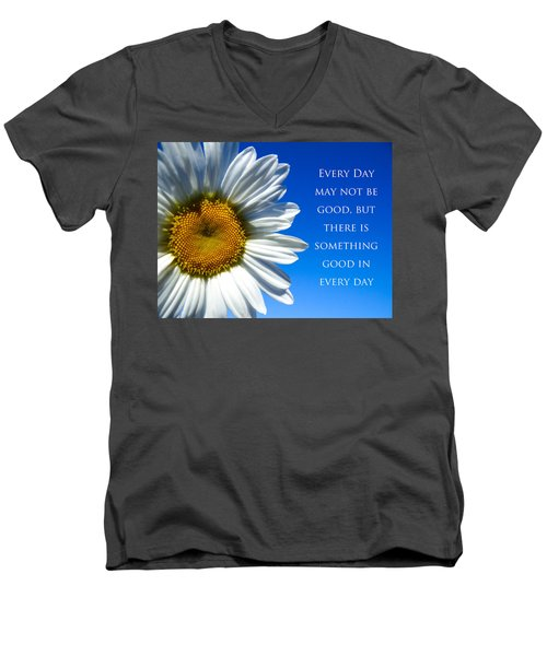 Men's V-Neck T-Shirt featuring the photograph Something Good by Julia Wilcox