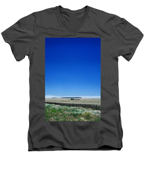 Men's V-Neck T-Shirt featuring the photograph Somewhere On Hwy 285 Number One by Lon Casler Bixby