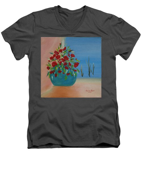 Southwestern 1 Men's V-Neck T-Shirt by Judith Rhue