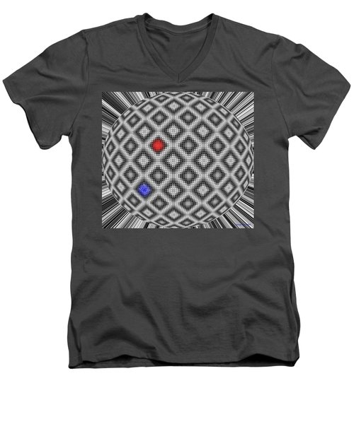 Men's V-Neck T-Shirt featuring the digital art Sphere Number 10 by George Pedro