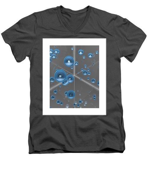 Men's V-Neck T-Shirt featuring the digital art Spheres... by Tim Fillingim