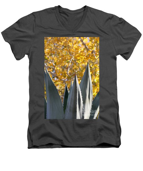 Spikes And Leaves Men's V-Neck T-Shirt by Alycia Christine