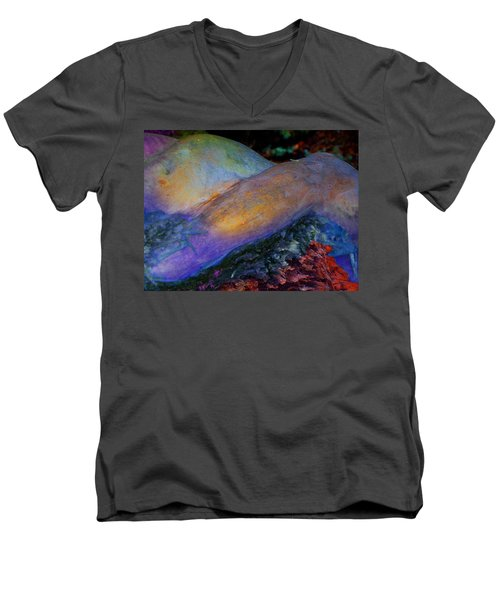 Men's V-Neck T-Shirt featuring the digital art Spirit's Call by Richard Laeton