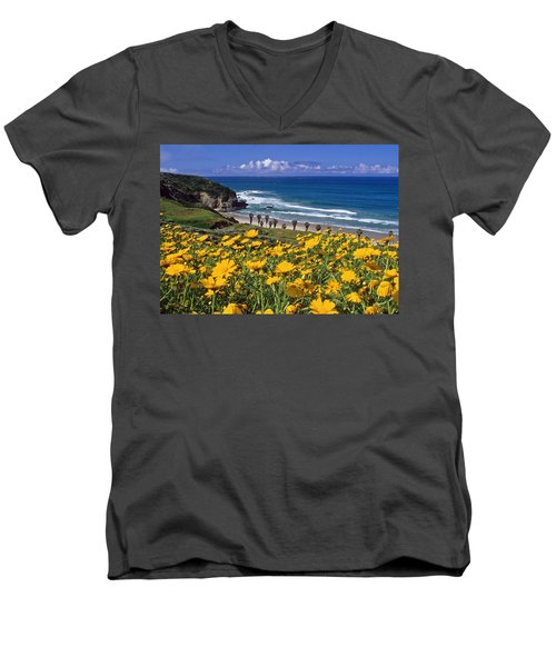 Springtime On The Headlands Men's V-Neck T-Shirt