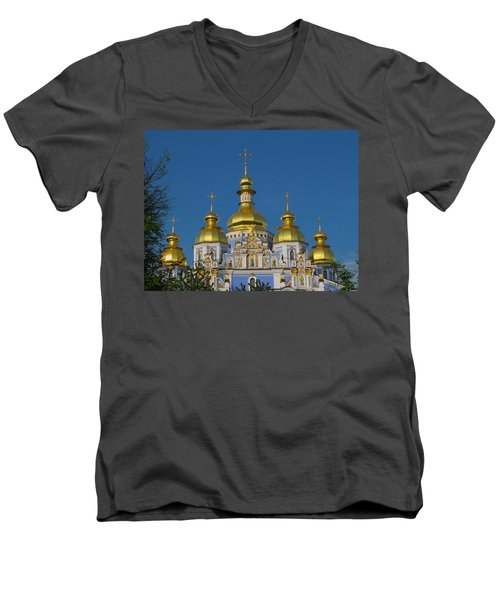 Men's V-Neck T-Shirt featuring the photograph St. Michael's Cathedral by David Gleeson