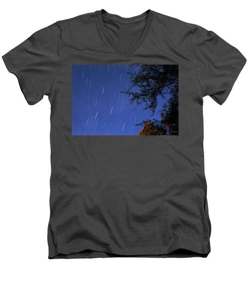 Stars Falling Men's V-Neck T-Shirt by Kay Lovingood
