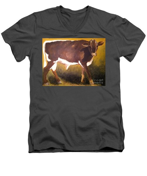 Steer Calf Men's V-Neck T-Shirt