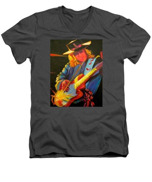 Stevie Ray Vaughn Men's V-Neck T-Shirt