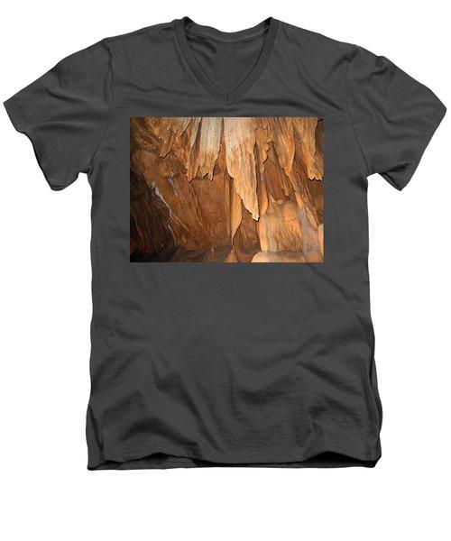 Stone Fold Elegance Men's V-Neck T-Shirt