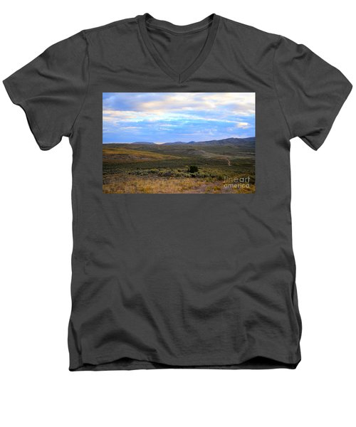 Stormy Wyoming Sunrise I Men's V-Neck T-Shirt