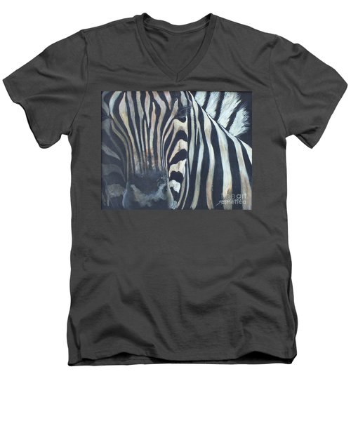 Stripes...sold  Men's V-Neck T-Shirt