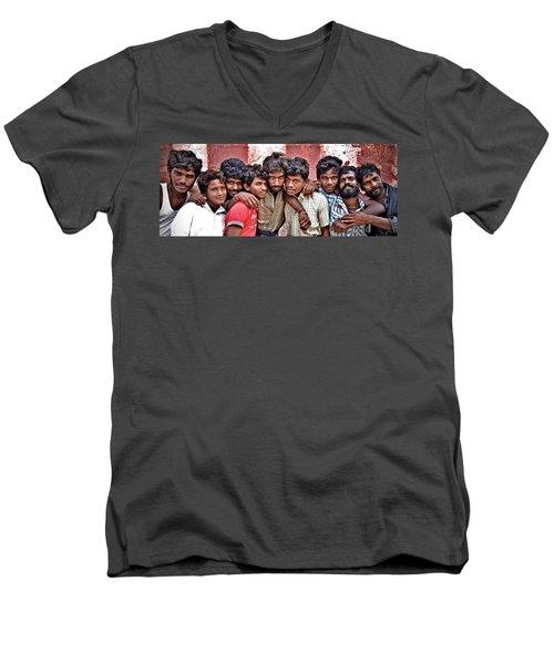 Strong Bonds Men's V-Neck T-Shirt by Valerie Rosen