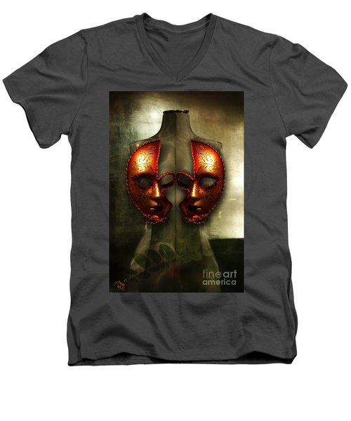 Men's V-Neck T-Shirt featuring the photograph Suckling The Silence  Viriditas by Rosa Cobos