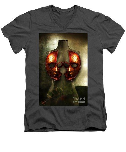 Suckling The Silence  Viriditas Men's V-Neck T-Shirt