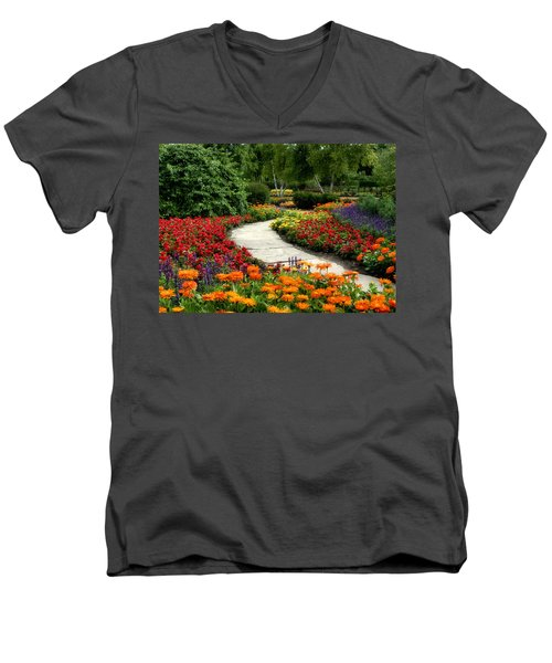 Summer In Cantigny 1 Men's V-Neck T-Shirt