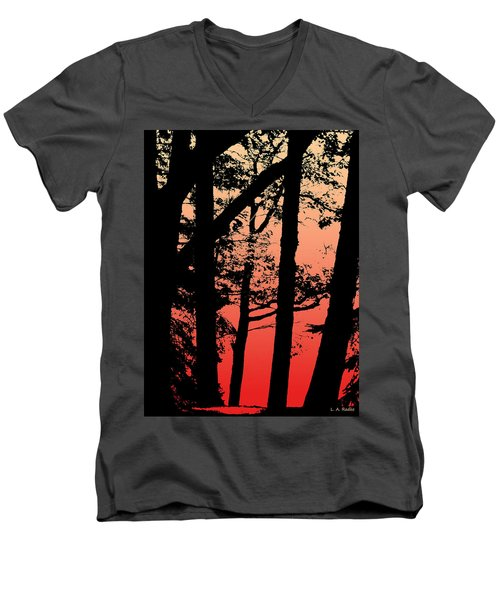 Summer Sunset Men's V-Neck T-Shirt by Lauren Radke