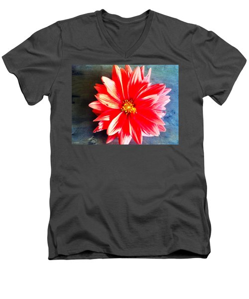 Men's V-Neck T-Shirt featuring the photograph Sunburst by Janice Spivey