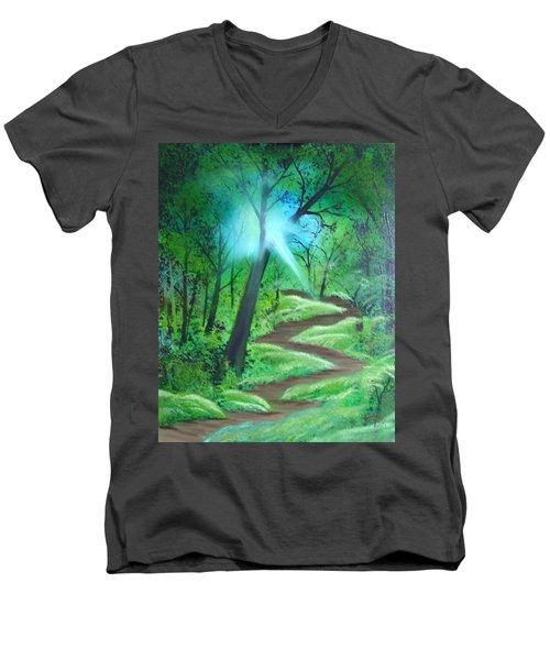 Sunlight In The Forest Men's V-Neck T-Shirt