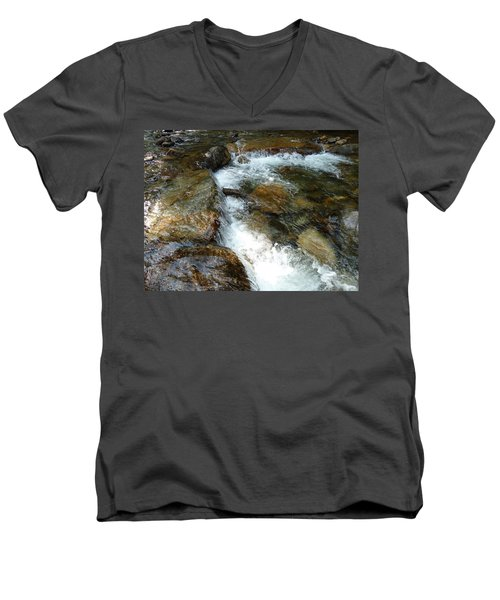 Sunlit Cascade Men's V-Neck T-Shirt