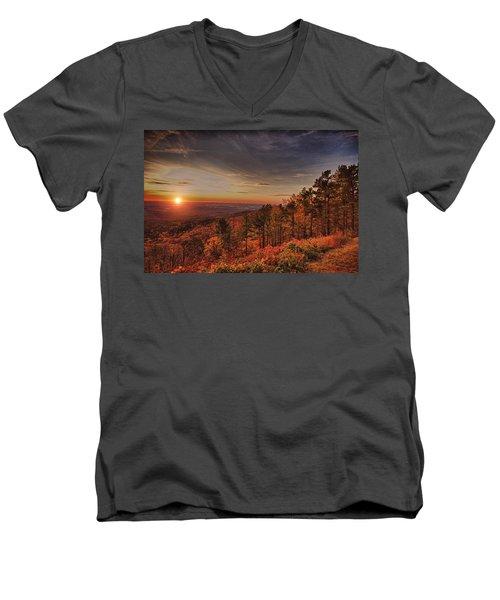 Sunrise 2-talimena Scenic Drive Arkansas Men's V-Neck T-Shirt