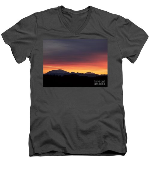 Men's V-Neck T-Shirt featuring the photograph Sunrise 3 by Chalet Roome-Rigdon