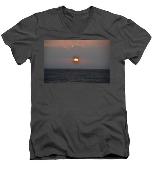 Sunrise In Melbourne Fla Men's V-Neck T-Shirt