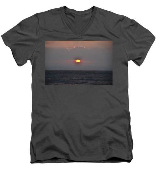 Sunrise In Melbourne Fla Men's V-Neck T-Shirt by Randy J Heath