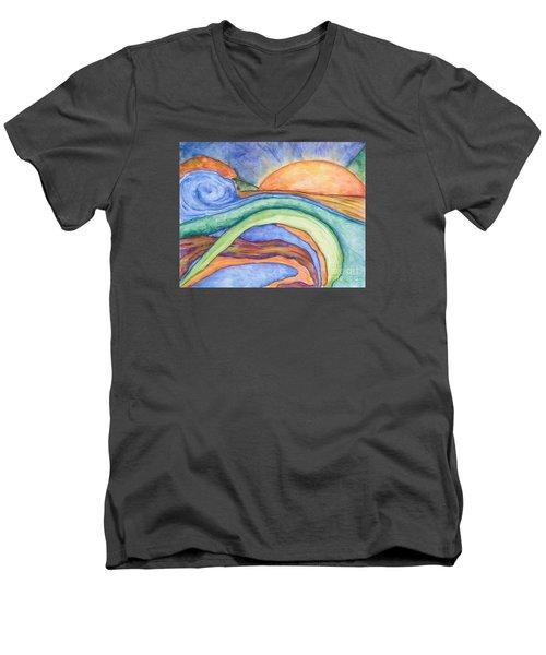 The Sunrise Men's V-Neck T-Shirt