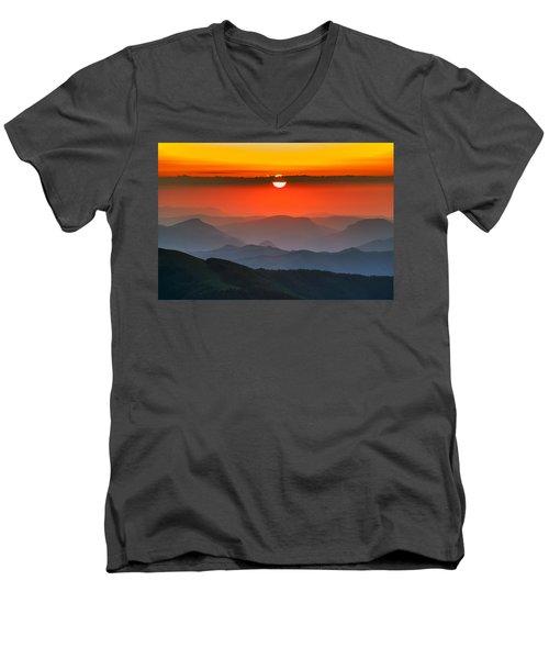 Sunset In Balkans Men's V-Neck T-Shirt