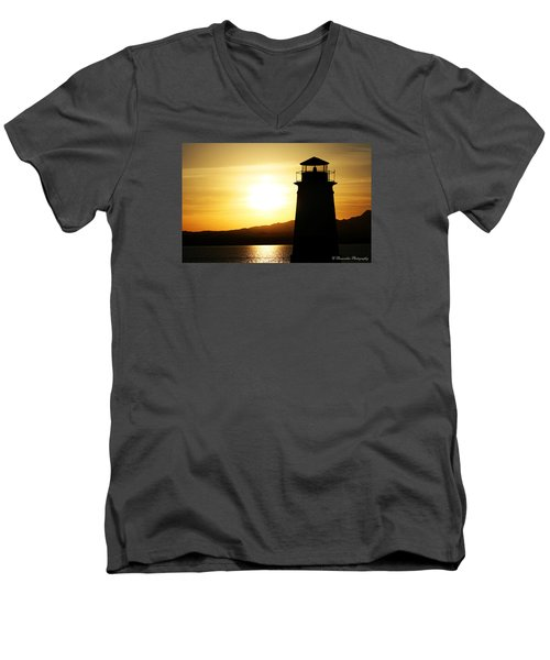 Lake Havasu Sunset Lighthouse Men's V-Neck T-Shirt