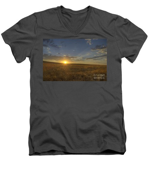 Sunset On The Prairie Men's V-Neck T-Shirt