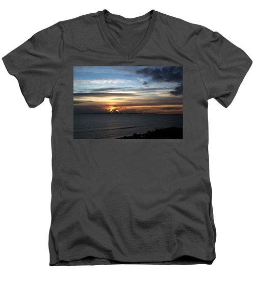 Sunset Over Poole Bay Men's V-Neck T-Shirt