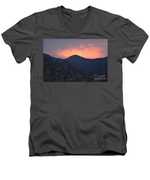 Sunset Over Red Rock Men's V-Neck T-Shirt