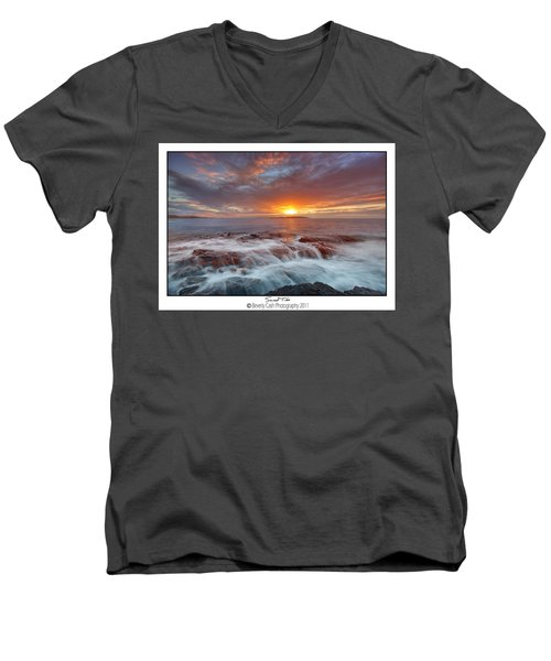 Sunset Tides - Cemlyn Men's V-Neck T-Shirt