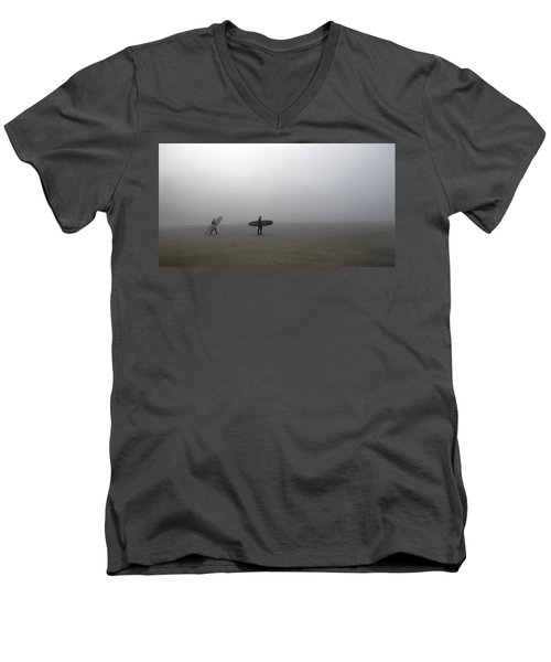 Surfing Into The Abyss Men's V-Neck T-Shirt