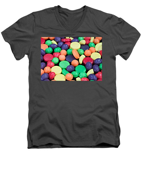 Men's V-Neck T-Shirt featuring the photograph Sweet Candy Galore  by Sherry Hallemeier