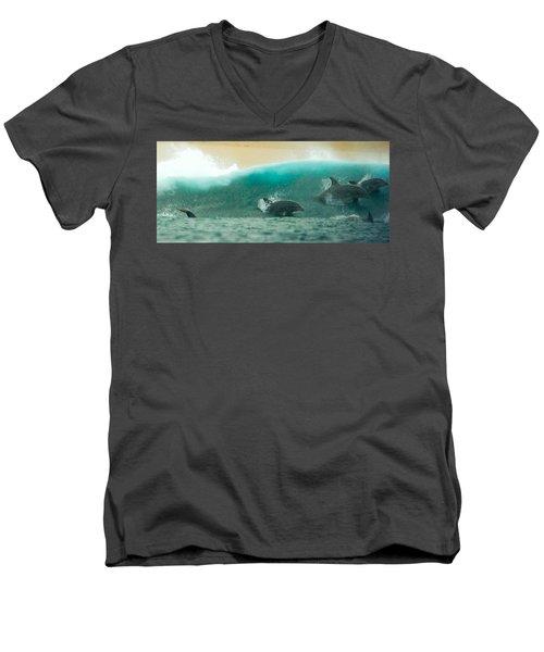Swim Thru Men's V-Neck T-Shirt