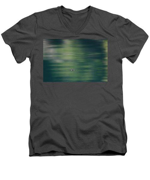Swimming Beetle Men's V-Neck T-Shirt by Cathie Douglas