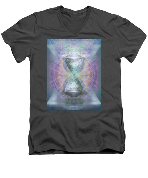 Synthesphered Grail On Caducus Blazed Tapestrys Men's V-Neck T-Shirt