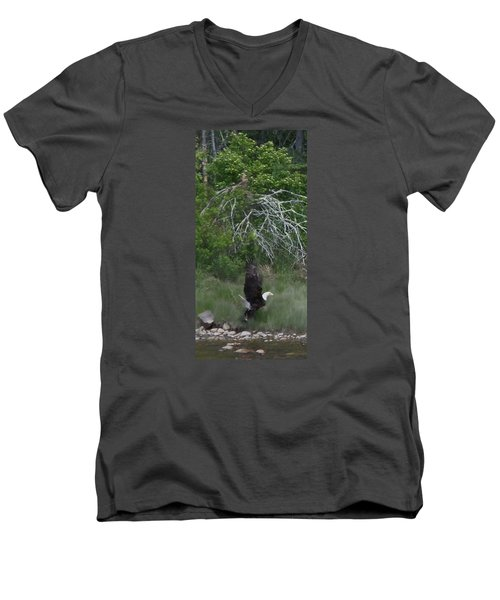 Men's V-Neck T-Shirt featuring the photograph Taking Home The Catch by Francine Frank