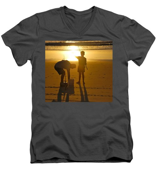Men's V-Neck T-Shirt featuring the photograph Teach A Man To Fish... by Eric Tressler