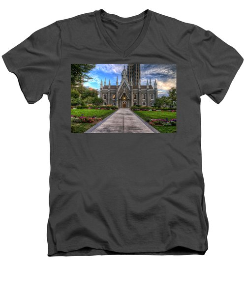 Temple Square Assembly Hall Men's V-Neck T-Shirt