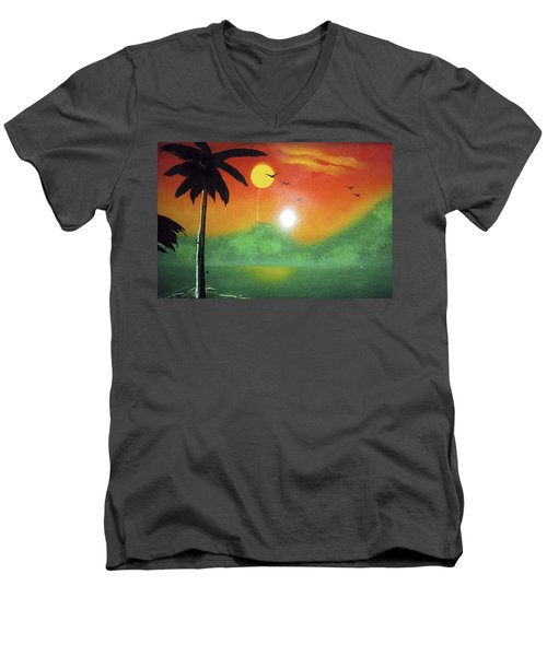 Tequila Sunrise Men's V-Neck T-Shirt